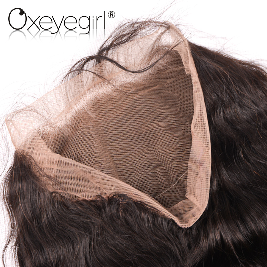 Oxeye girl 22.5x5x2 Pre Plucked 360 Lace Frontal Closure With Baby Hair Brazilian Body Wave Remy Human Hair Bundles Free Part