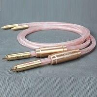 Бесплатная доставка Accuphase соединительный кабель с позолоченным штекером 1 м/пара