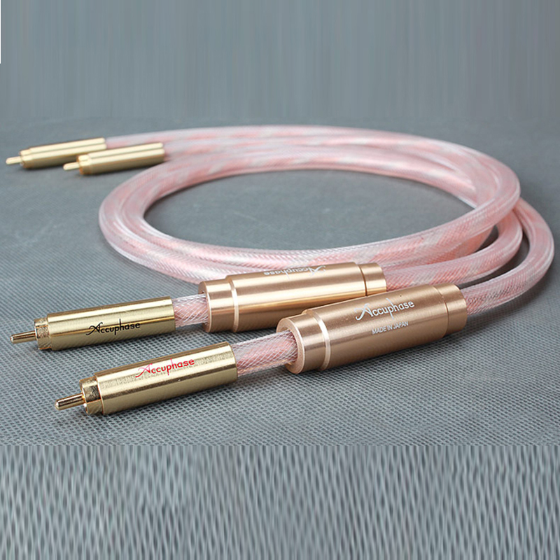 Free shipping Accuphase interconnect cable with plated gold plug connection 1Meter/pair free shipping one pair style 24k gold plated eu schuko