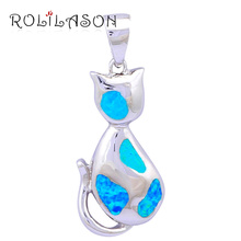 New hot popular Blue fire opal pure silver 925 sterling silver necklace pendant gorgeous jewelry for women SP6 стоимость