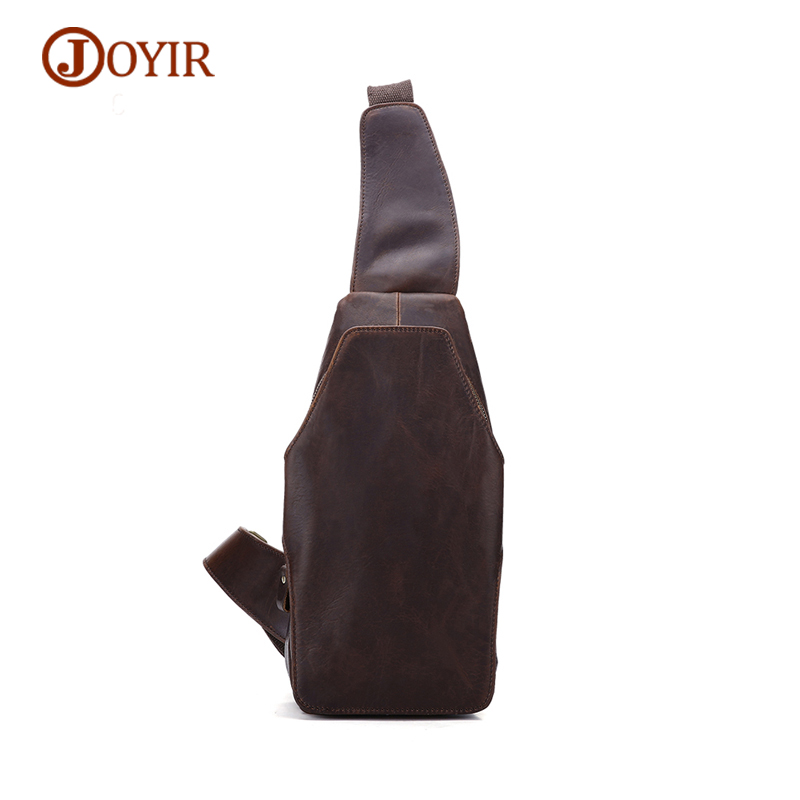 JOYIR Fashion Genuine Leather Chest Pack Men Messenger Crossbody Bag High Quality Cow Leather Shoulder Chest Bags Male 2016 new brand design fashion black genuine leather bag chest pack men messenger bags shoulder bags
