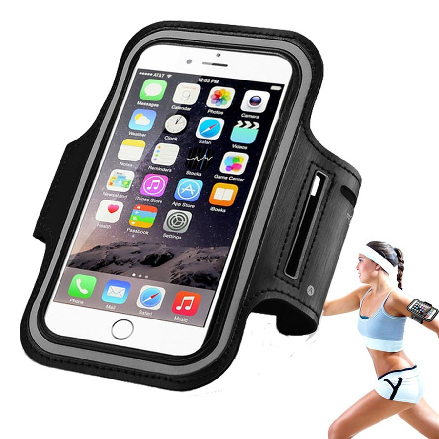Universal 5.5inch Sport GYM Arm Band ტყავის საქმე iPhone 6s Plus Xiaomi 5 Mi5 Redmi Note 3 Pro mi4 mi მაქსიმალური Samsung A7 LG G4