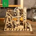 Robud DIY Lift Coaster Gear Drive Ball Game Crash Laser Cut Wood Model Building Kits ChildrenToy Gift LG503 for Dropshipping