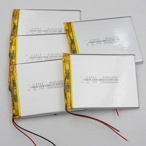XINJ 5pcs 3.7V 2500mAh Li-Po Polymer Li Battery 406080 For GPS Phone Camera Music player Record bluetooth speaker Tablet PC