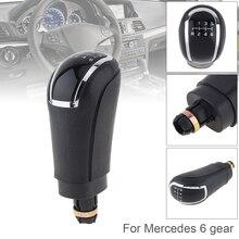 5 6 Speed Gear shift Knob ABS Plastic Black  Manual Transmission Gear Shift Handball Knob for Benz 6 5 Gear Models 2D недорого