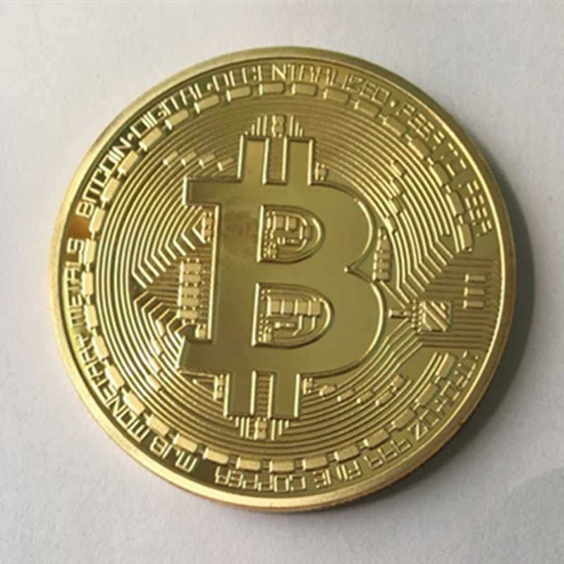1 pcs הקלאסי BTC bitcoin 24K זהב אמיתי מצופה כסף ברונזה תג 40 mm אינטרנט נושא מזכרת אסיפה קישוט מטבע