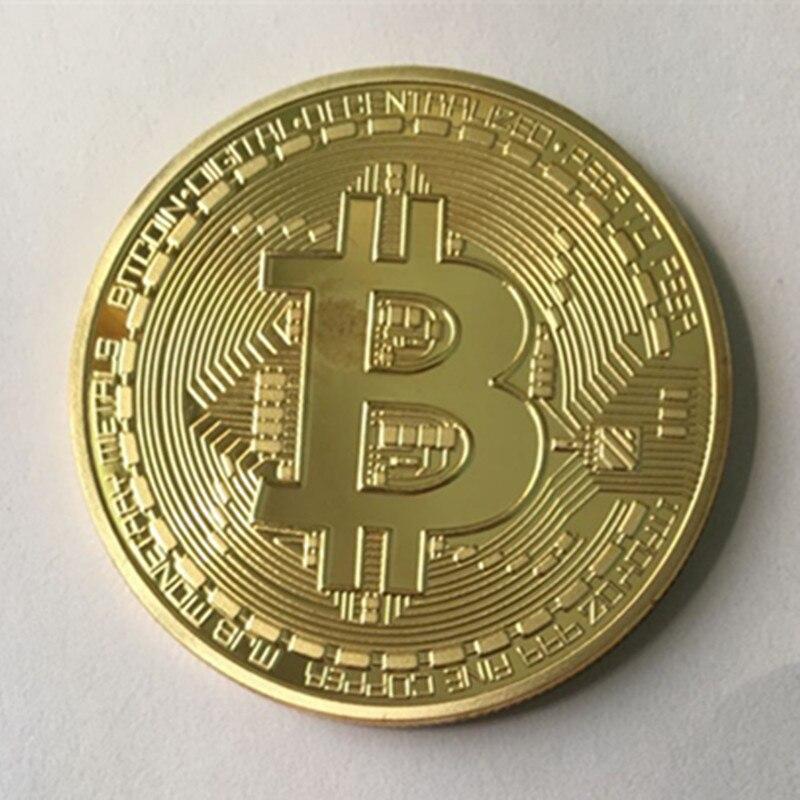 1 pièces le classique BTC bitcoin 24K réel plaqué or argent bronze badge 40 mm internet thème souvenir de collection décoration pièce