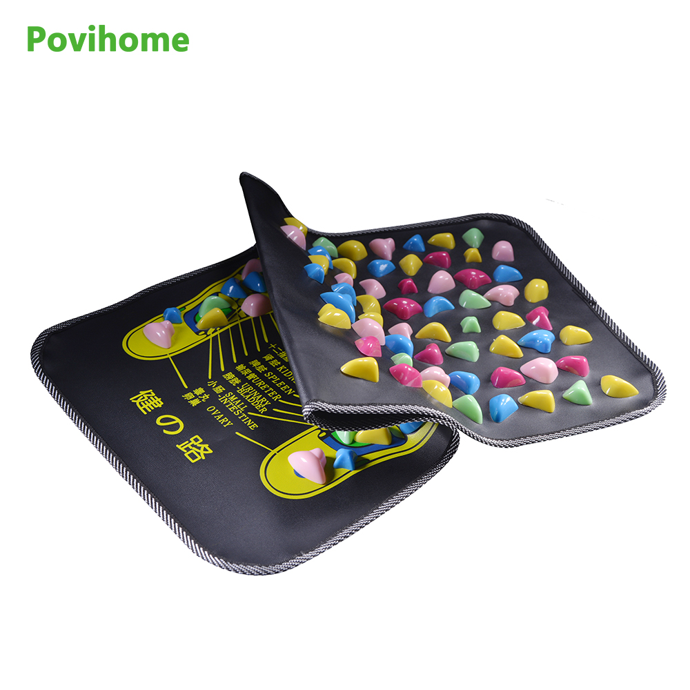 Acupressure Gravel Massager Mat Relieve Stress Pain Foot Massage accupuncture Natural Relief Stress Tension Walk Massage C1419