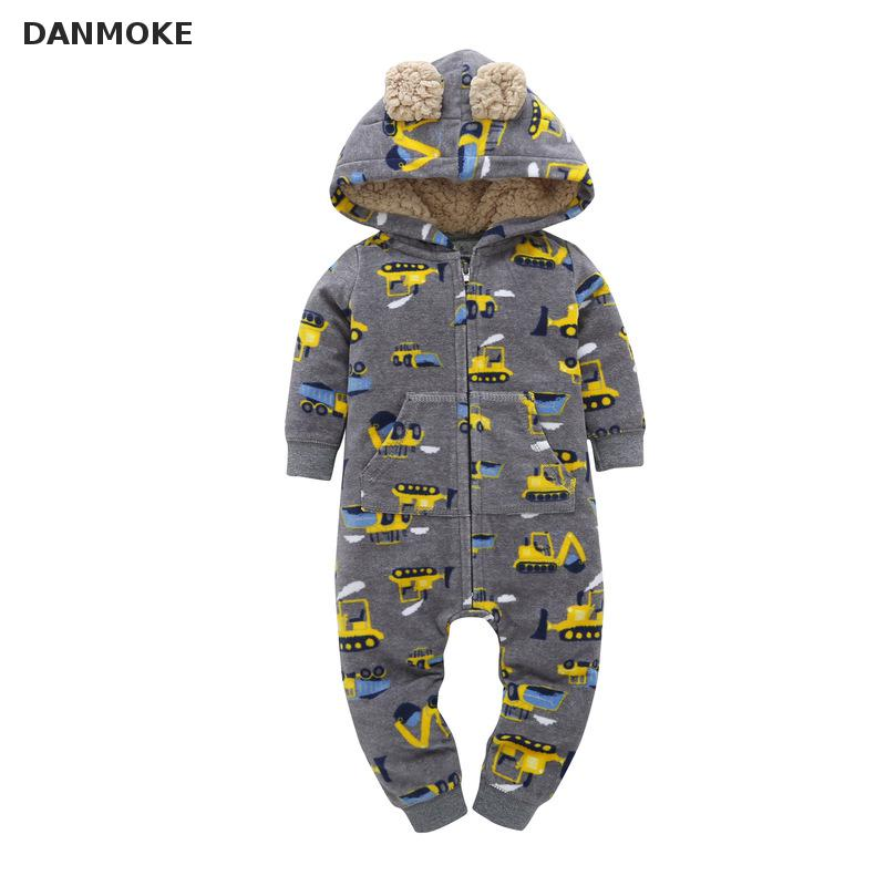 Danmoke Bebes Baby Boy Girls Rompers Baby Boy Suits Kids Jumpsuits Clothing Autumn And Winter Baby One-pieces Clothes Cotton