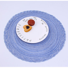 цена на 4pcs Knitting Cotton Linen Round Placemat Bowl Mats Decor Coaster Table Mat Heat Insulation Handmade Pad