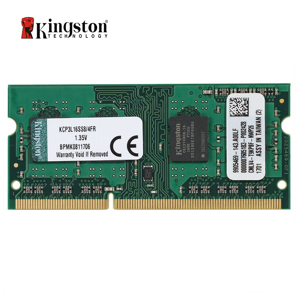 Kingston 4GB DDR3L 1600MHz Laptop RAM 1.35V (KCP3L16SS8/4)