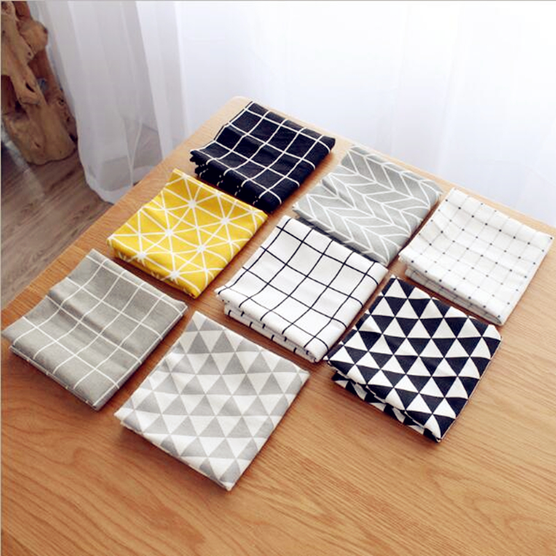 Simple style Square napkin Dinner table Cotton Placemat Setting placemats for table bowl plate pad coasters 1pc ...