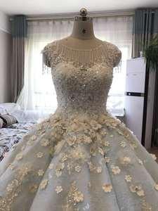 Image 4 - Vestido De Noiva luksusowe wysokiej jakości zroszony vintage kulka suknia ślubna suknie ślubne 2018 suknie ślubne suknia dla panny młodej Brautkleid mięta niebieski