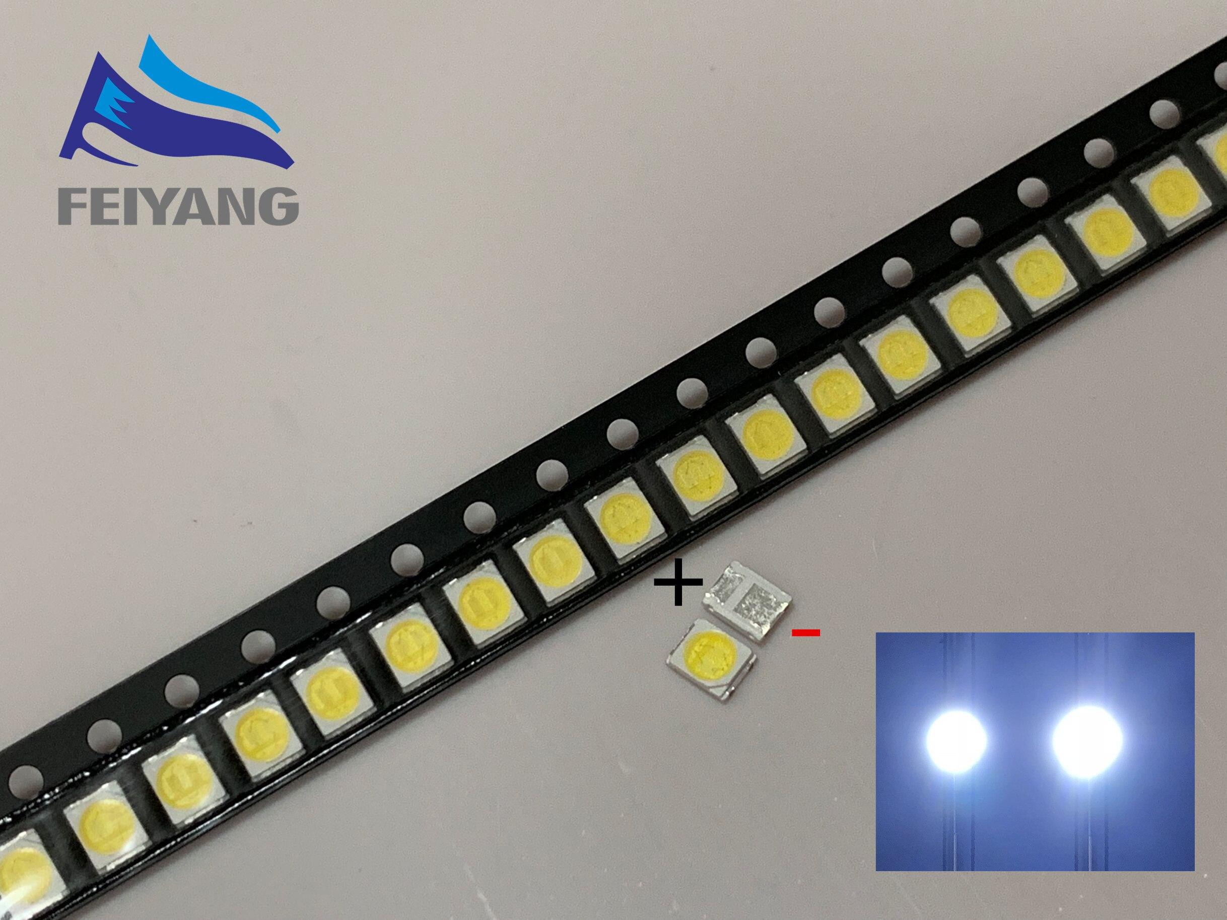 50PCS Original LEXTAR 2835 3528 1210 3V 1w-2W SMD LED For Repair TV Backlight Cold white LCD Backlight LED