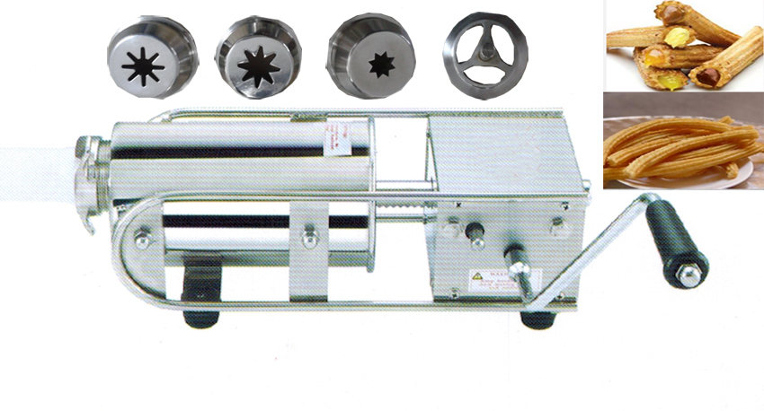 Free shipping 3L Horizontal Type Spain Churros machine