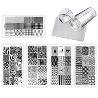 5pcs Set New Nail Stamping Plates Nail Stencil Stamp Template Image Zebra ZIGZIG Design For Nails