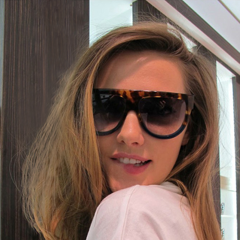 0c5f94646e2 WINLA Sunglasses Fashion Women Flat Top Oversize Shield Shape Glasses Brand  Design Vintage Sun glasses UV400 Female Rivet Shades-in Sunglasses from  Apparel ...