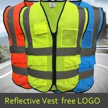 Alta visibilidade reflexiva colete local de trabalho estrada roupas de trabalho da motocicleta ciclismo esportes ao ar livre reflexivo segurança