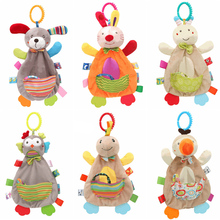 Baby Kid Stroller Hanging Bell Infant Animal Rattles Plush Doll Soft Comfort Toy Educational Puzzle Game Toy