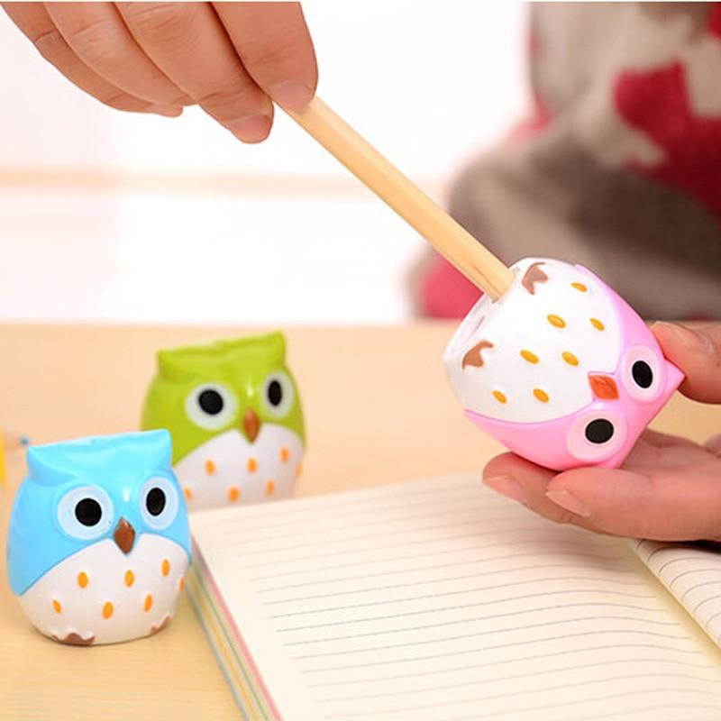 24 PCs Cute Pencil Sharpener Stationery Wholesale Korea Cute Owl Student Stationary Animal  Pencil Sharpeners for Kids School