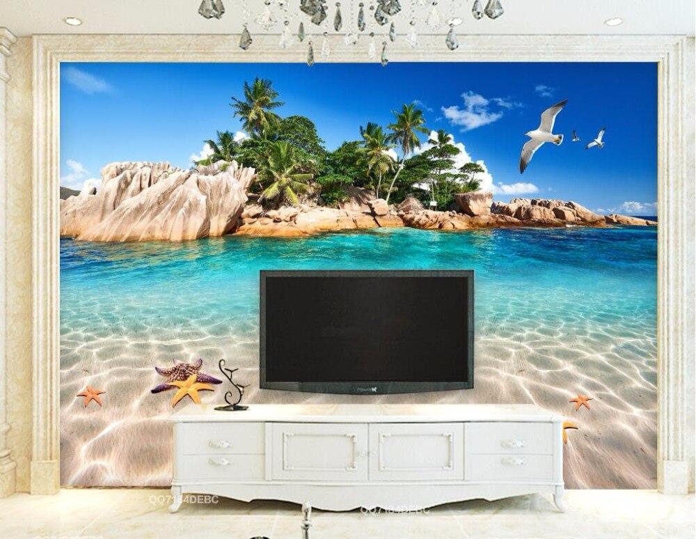 Custom 3 D Photo Wallpaper Wall Murals 3d Wallpaper Beach: WDBH Custom Mural 3d Photo Wallpaper Mediterranean Island