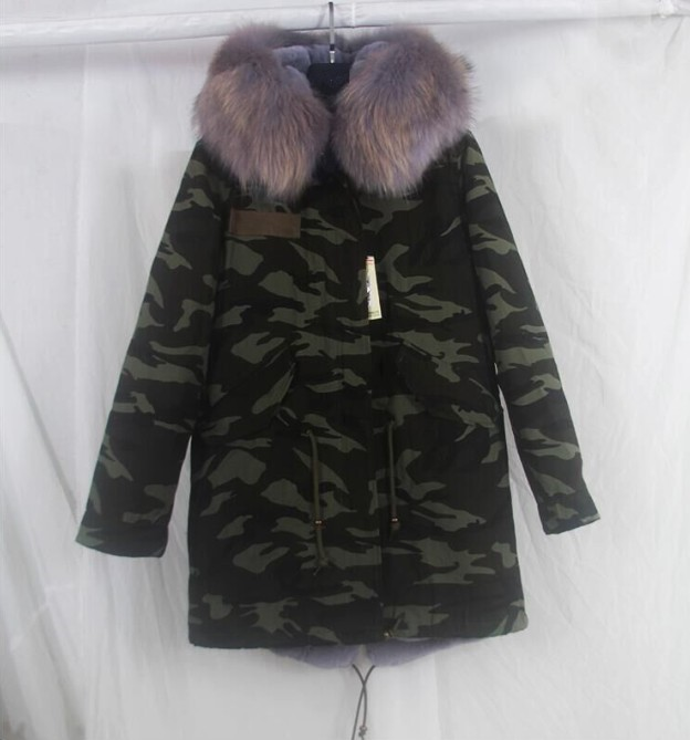 plus size 2017 women outwear  long Camouflage winter jacket thick parkas raccoon natural real fur collar coat hooded pelliccia plus size 2017 women outwear long camouflage winter jacket thick parkas raccoon natural real fur collar coat hooded pelliccia