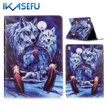 IKASEFU Coque Fundas For Apple iPad Pro 9.7 inch PU Leather Case Cover for ipad pro mini Painting Tablet for ipad 7 Painted Filp