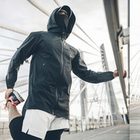 Fashion New Autumn And Winter Long Black Wind proof Single Stormcoat Men's Outdoor Clothing Wind proof Coat Leather Vests Biker