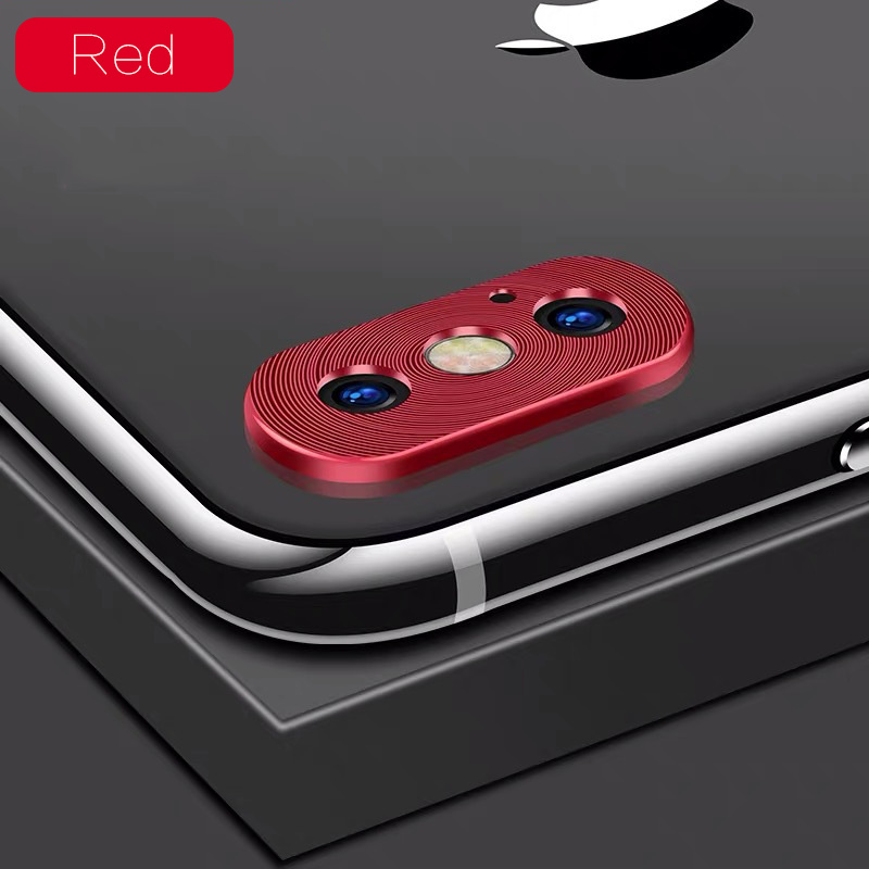 KIPX1118R_1_Metal Camera Lens Protector for iPhone X XS XR XS Max 360 Full Protection Anti-scratch Camera Protective Cover