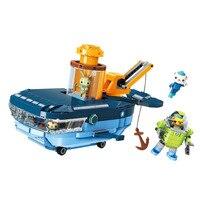 Octonauts Building Block GUP C Blue Whale Vehicle & Barnacles Kwazii Tweak 630pcs Educational Bricks Toy For Boy Gift