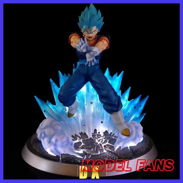 MODEL FANS INSTOCK Dragon Ball Z FC 32cm super saiyan blue Vegetto GK resin statue contain led light for Collection