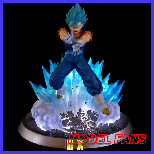 цены MODEL FANS INSTOCK Dragon Ball Z FC 32cm super saiyan blue Vegetto GK resin statue contain led light for Collection