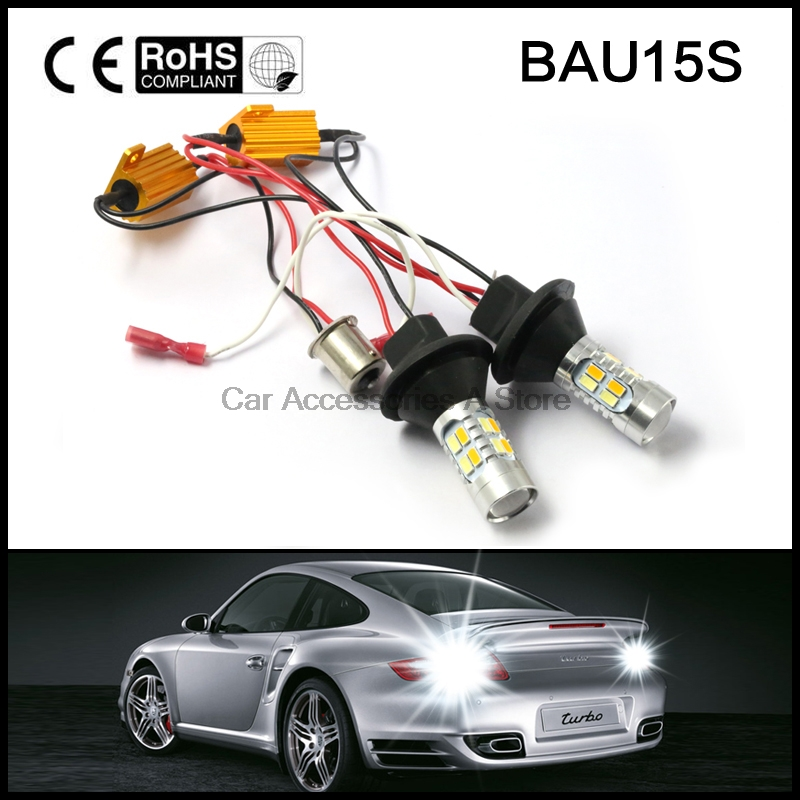 Двойной Цвет Белый/Янтарный желтый Горки BAU15S 1156 PY21W светодиодный сигнал поворота свет canbus безошибочные с ДХО резистор
