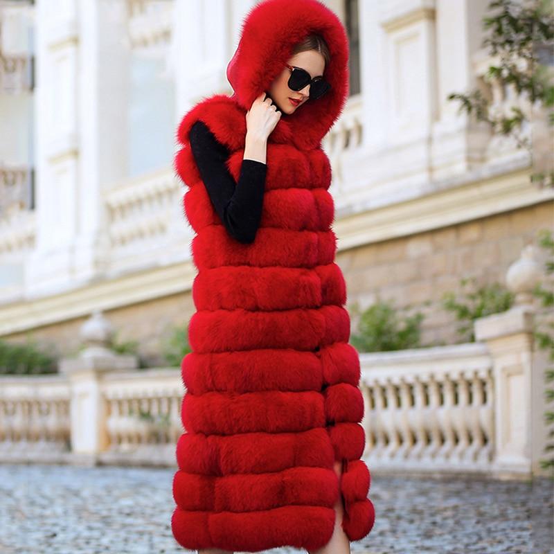 LVCHI SHUBA sin mangas Chalecos femeninos chaleco de piel real - Ropa de mujer - foto 2