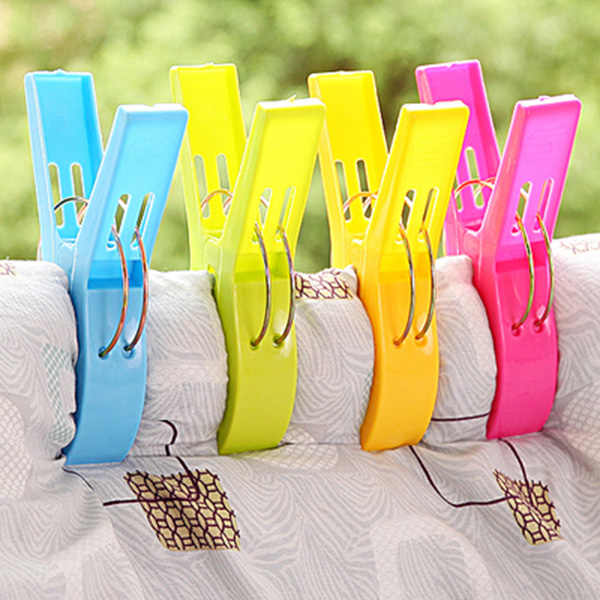 4/8 /12/16/32pcs Large Bright Colour clothes Clip Plastic Beach Towel Pegs clothespin Clips to Sunbed Multicolor