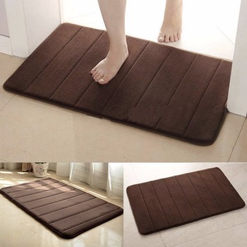 Anti Slip Shower Mats and Bath Mats for Bathroom Floor Made with Soft Memory Foam