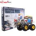 Metal montaje de bloques de construcción de camiones excavadora 816B-10Alloy desmontaje combinación de tuerca de montaje de juguetes educativos para niños
