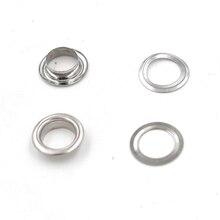 200pcs/lot 8mm Metal hole. Ventilation holes. Eyelets.Black metal corns. Canopy cloth rope Clothing & Accessories