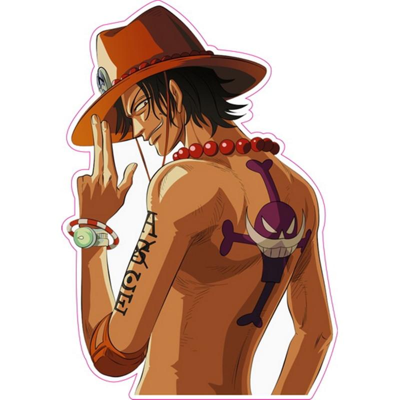 Portgus D. Ace - One Piece - Fixed Gear & Luggage & Guitar Stickers - Reusable ONEPIECE Refrigerator Sticker