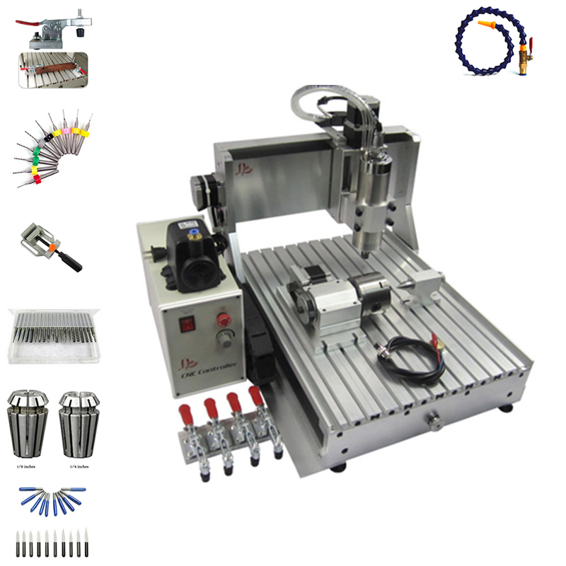 1500 W mandrino 3 assi router di cnc 3040 4 assi PCB fresatura macchina con la taglierina pinza morsa foratura kit