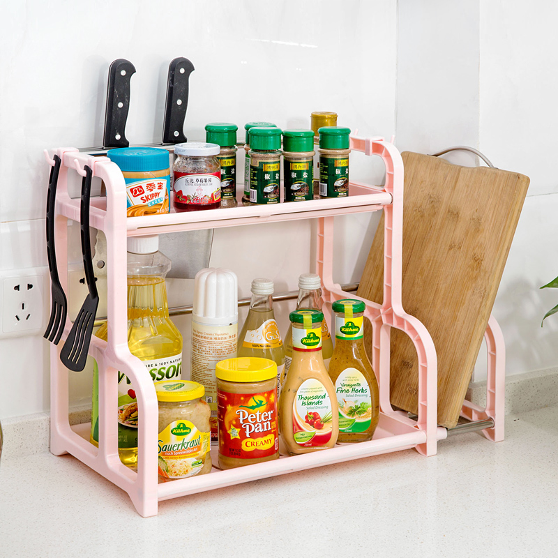 Kitchen Shelf For Spices: New Removable 2 Layer Spice Rack Organizer Wall Corner