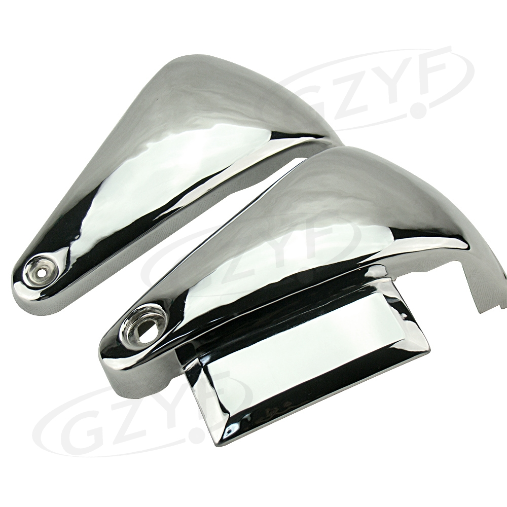 Classic Chrome Metal Battery Side Covers For Kawasaki Vulcan VN800A / VN800 motorcycle saddlebag bracket support bar for kawasaki vulcan vn900 solid steel chrome 24cm 2pcs high quality motorcycle covers