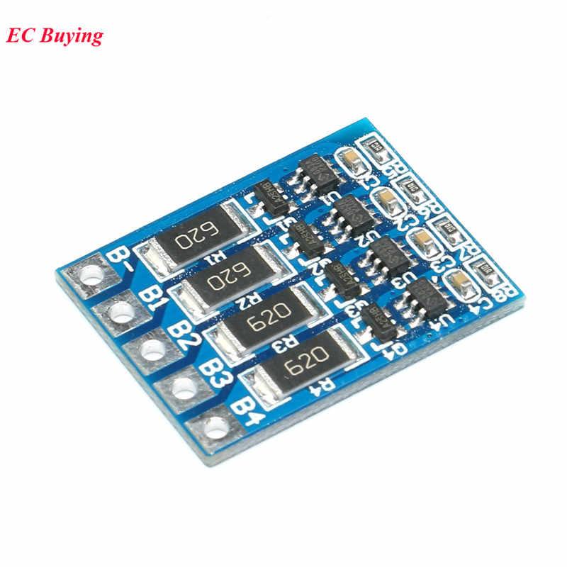 4S 14.8V 16.8V Li-ion Lithium Lipo Baterai 18650 Perlindungan Board Charger Pengisian Modul PCB BMS Balancer equalizer