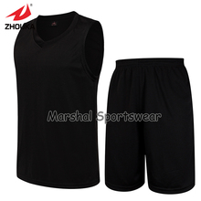 Men's Set sports shirt training Sleeveless basketball jersey suit Wear new v-neck blank jersey