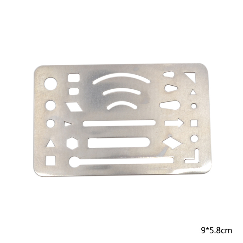Multi Shape Silver Tone Drawing Template Tool Stainless Steel French Curve Ruler Paper Craft