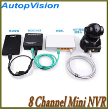 2015  K108 Super mini NVR Onvif 8 Channel 1080P/960P/720P Mini Portable Network Video Recorder NVR, Support Onvif, 3G, Wifi