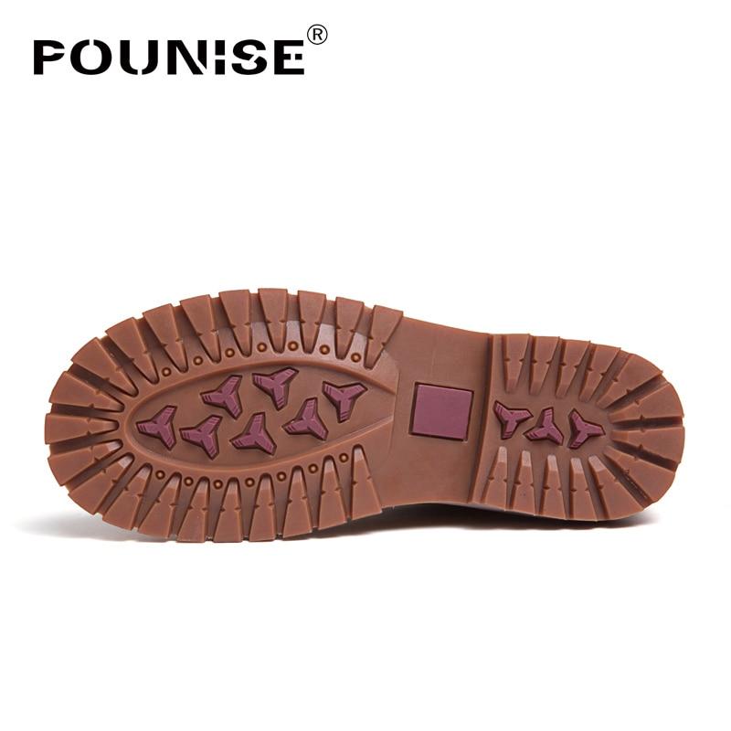 Sapatos No Livre Outono De black Fur Fur Fur Dos Prova Fur gray brown Botas Black Inverno Homens Qualidade Martin Couro Trabalho D' Água Ar Genuíno Tornozelo Ao Alta X8O1xw