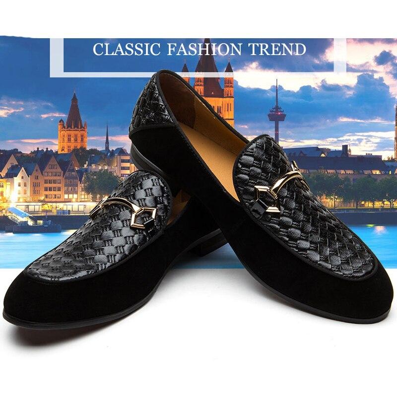 Grande taille chaussures décontractées mocassins hommes chaussures de luxe chaussures décontractées chaussures de mariage en cuir chaussures chaussures plates pour homme offre spéciale Banquet chaussures