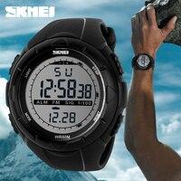 Горячие SKMEI Элитный бренд для мужчин s спортивные часы погружения 50 м светодио дный цифровой светодиодный Военная Униформа часы для мужчин м...