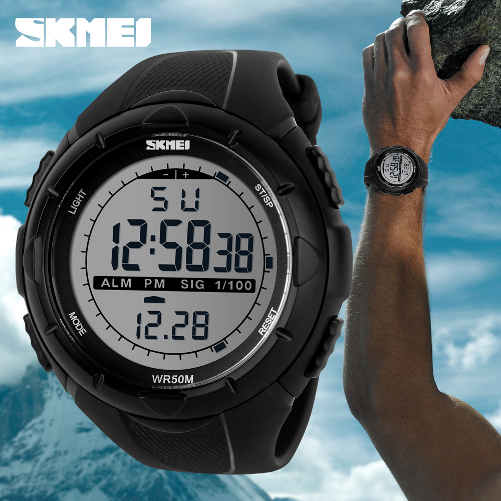 Hot SKMEI Luxury Brand Mens Sports Watches Dive 50m Digital LED Military Watch Men Boy Fashion Casual Electronics Wristwatches